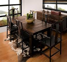 rustic dining set. Rustic Kitchen Table Pertaining To Decorating Cute Sets 9 Dining Set Vintage Plans 19