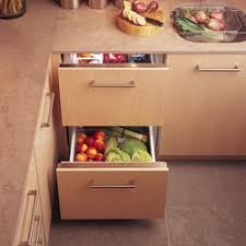 refrigerator drawers. while refrigerator drawers provide more space up above on the countertops, they also have drawbacks to consider. since are low and ground,