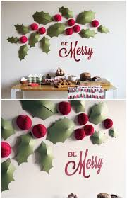 endearing wall decorating ideas for christmas best ideas about