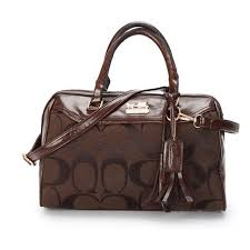 Coach Legacy Haley Medium Coffee Satchels BAZ