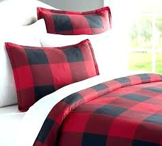 red and green plaid flannel sheets sheet sets set buffalo check duvet cover sham black pottery