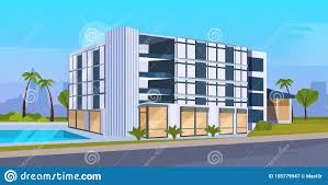 Office Building Exterior Design Modern Hotel Office Building Exterior With Large Panoramic