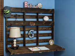 diy pallet wall desk pallet shelf