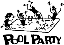 pool party clipart black and white. Fine Black Summer Pool Party Black And White Clipart 1 Inside WorldArtsMe