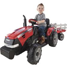 case i h magnum battery operated ground force 12 volt tractor with trailer