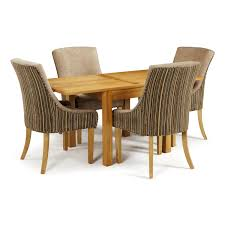 dining room table and fabric chairs. Lambeth 80-160cm Dining Set With 4 Richmond Fabric Chairs Room Table And H