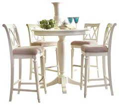 dining room chairs bar height. american drew camden-light 5-piece bar height ped dining room set in white chairs