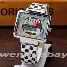 online get cheap mens trendy watches aliexpress com alibaba group top brand special tv test signal design watches men trendy leather quartz women fashion mens rectangle