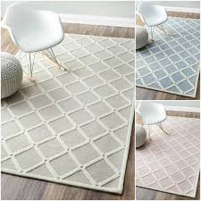 nuloom handmade abstract fancy trellis wool rug in blue and white and grey and pink