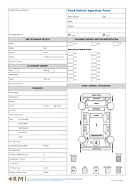 Vehicle Appraisal Form RMI24P Used Vehicle Appraisal Form Pad RMI Webshop 1