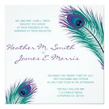 peacock invitations the classy peacock wedding invitation zazzle com