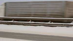 Winter Track, Highway   HD Stock Video Clip