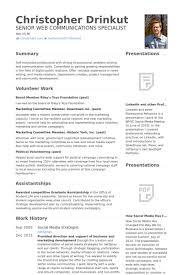 Social Media Strategist Resume samples