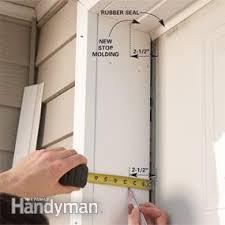 fixing garage doorFixing Garage Door Bottom Seal  The Family Handyman