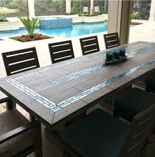alluring tile top patio table 25 replacement and chairs dining set image of wood with room