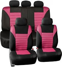fh group fb068purple115 purple universal car seat cover premium 3d air mesh design airbag and rear split bench compatible pink fb068pink115