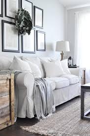 farmhouse style sofa. Beautiful Slipcovered Farmhouse Style Sofa And Armchairs From Ikea! M