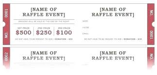 Ticket Template Free Word For Raffle Tickets Printable To Make Party