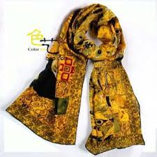 gustav klimt portrait of adele bloch bauer art scarf oil painting repro goods 100 silk material elegant gift in women s scarves from