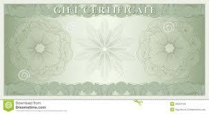 Voucher Gift Certificate Coupon Money Stock Vector