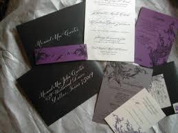 Black And Purple Invitations Black And Purple Wedding Invitation Lettering Art Studio