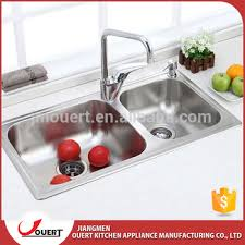 deep stainless steel sink. China Industrial Double Bowl Square Deep Stainless Steel Kitchen Sink