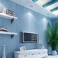 GAOJIAN Grau Blau Holz Korn Tapete Vlies Nostalgie Aufkleber Schlafzimmer  Wohnzimmer TV Wand Gestreift Wandaufkleber Breite