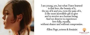 Ellen Page Quotes. QuotesGram via Relatably.com