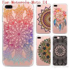 motorola e4 phone case. cool mandala series phone case for motorola moto e4 e 4th gen. high quality painted tpu soft silicone skin back cover ballistic cell o
