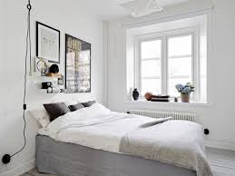 Bedroom:Astonishing Scandinavian Bedroom Design With Grey Blanket And White  Fur Rug Over Glass Bulb