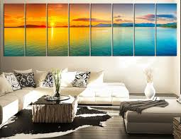 large art sea and red sunset extra large from edecor on extra large wall art
