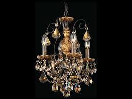 schonbek new orleans four light 12 wide mini chandelier
