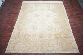 13x19 beige oushak area rug oversized hand knotted wool carpet 12 9 x 18 8