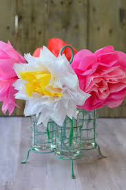 Paper Flower Bouquet In Vase Tissue Paper Flowers For Mothers Day My Big Fat Happy Life