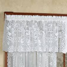 cranbrook lace tailored valance white 60 x 18