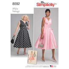 Retro Dress Patterns Interesting Simplicity Pattern 48 Misses' And Women's Vintage Dress