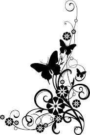 black and white flowers clipart free large images