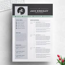 Word Resume Cv Template Ms Word With Cover Letter Clean And Creative Professional Design