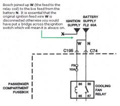 rvnote wiring modification so the fan can run after the source marked up copy of the wiring diagram for the cooling fan showing the wiring modification rv8 repair manual akm7154eng