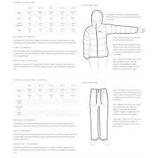 Rab Clothing Size Charts Coastal Sports