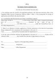 Noc Letter Format For Construction Best Of No Objection Letter