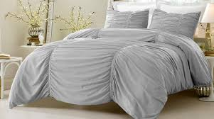save 25 gray ruched design bedding set includes comforter and duvet cover style 1005 c