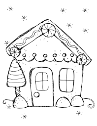 Coloring Pages Stunning Gingerbread House For Coloring Free