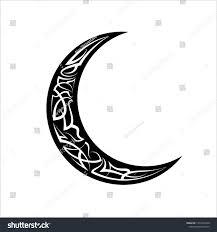 Crescent Moon Design Pinstripe Crescent Moon Design Vinyl Ready Stock Vector