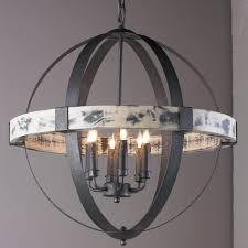 chandeliers iron chandelier awesome aspen wrought iron globe intended for best and newest large iron
