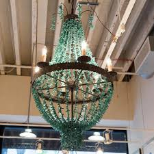 turquoise chandelier lighting. Beaded Turquoise Chandelier - Regina-Andrew Design Lighting