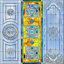 door panel designs copyright ornamental stained glass