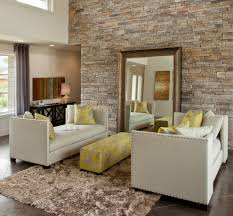 Wall Decor For Living Room Stone Wall Decor Living Room Eclectic With Area Rug Artwork Brown