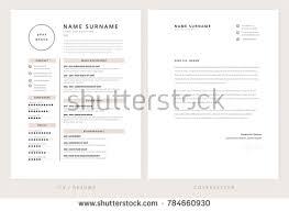 Cv Resume Cover Letter Template Elegant Stock Vektorgrafik 784660930