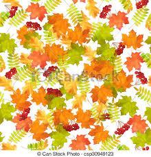 Fall Leaf Pattern Simple Seamless Autumn Leaf Fall Pattern Seamless Watercolor Autumn Leaf